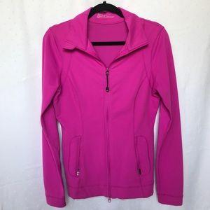 Zella Fuchsia Athleisure Double Zip Jacket